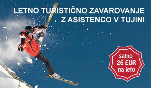 Letno turistično zavarovanje 26 EUR letno
